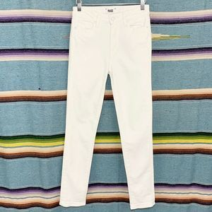 Paige • White Hoxton Crop Rollup Skinny Jeans 26
